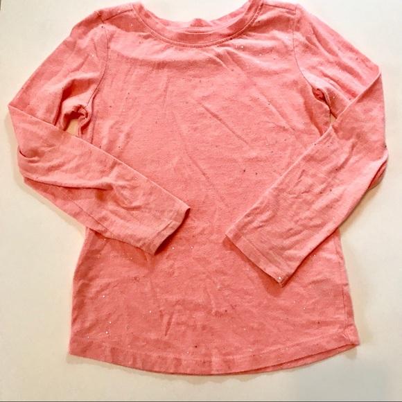 0df4d0c1e Cat & Jack Shirts & Tops | Cat Jack Pink Glittery Long Sleeve Shirt ...